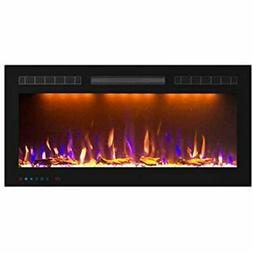 Electric Fireplace, In-Wall Recessed Mounted Heater 1500/750