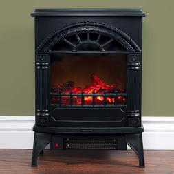 Electric Fireplace-Indoor Freestanding Space Heater Faux Log