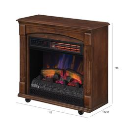 Electric Fireplace Infrared Quartz Heater LED Flame Freestan