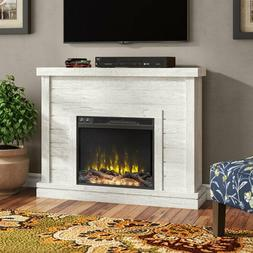 Electric Fireplace Mantel LED Flames Heater TV Stand Home Bl