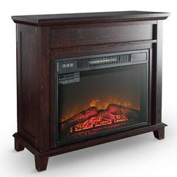 Electric Fireplace Push Button Control Logs Stove Heater 32-