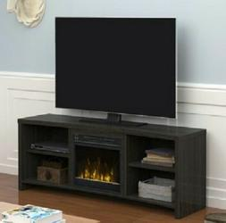 ELECTRIC FIREPLACE TV STAND Media Console Heater Black Walnu