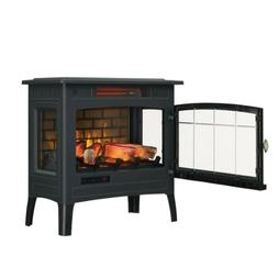 electric infrared quartz fireplace stove with 3d
