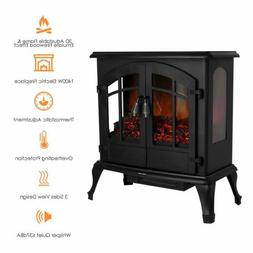 Electric Wood Fireplace Stove Realistic Flame Heater 750-150