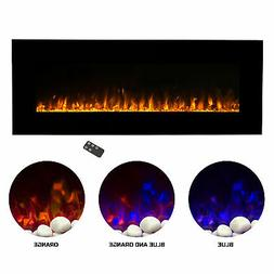 LED Fire and Ice Electric Fireplace with Remote Control Wall