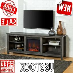 FIREPLACE ELECTRIC TV STAND 75 Inch Screen Television Media