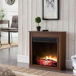 Fireplace Supplemental Heating Area 23 in. Compact Electric