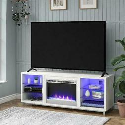 Fireplace TV Stand Electric Heater Insert Media Console Ente