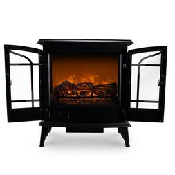 """25"""" Freestanding Electric 1400W Fireplace Heater Infrared Qu"""