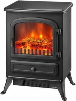 Freestanding Electric Fireplace Heater Stove 1500W with Real