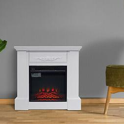 """Freestanding Electric Fireplace Heater with Mantel 1400W 30"""""""