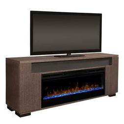 """Dimplex Haley 76"""" Fireplace TV Stand with Soundbar in Rift G"""
