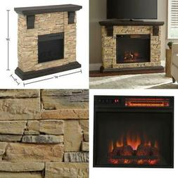 Home Decorators Collection Highland 50 in. Faux Stone Mantel