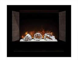 Modern Flames Home Fire Series Electric Fireplace with Glass