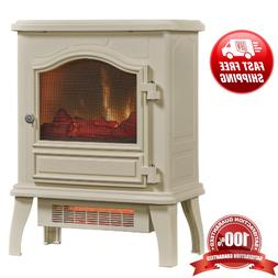 Infrared Quartz Electric Fireplace Space Heater, Adjustable