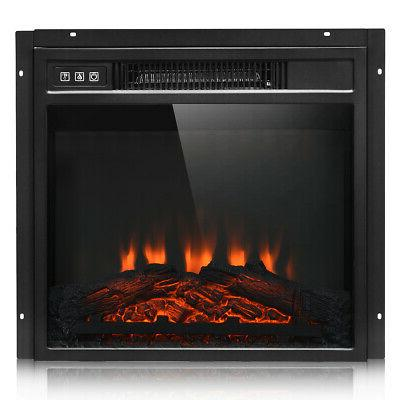 "18"" Electric Fireplace Freestanding &Wall-Mounted Heater Log"