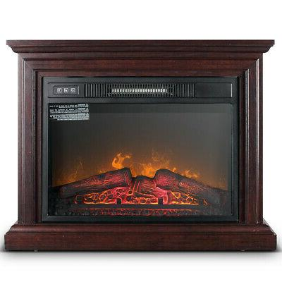 1400w large infrared quartz electric fireplace heater