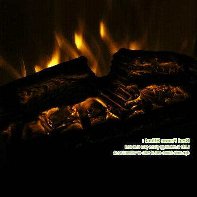 """17"""" Electric Freestanding Wood Fire Flame Warm"""