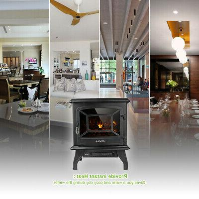 """17"""" Electric Freestanding LED Flame Warm"""