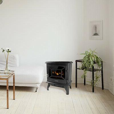 """17"""" Electric Fireplace Heater Freestanding Flame Warm"""
