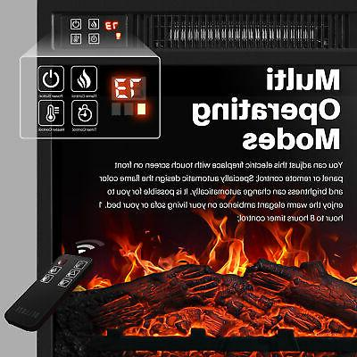 """18""""Embedded Electric Fireplace Remote Heater Adjustable Flame"""