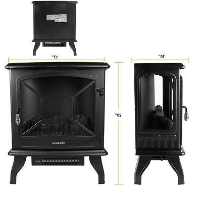 "20"" Electric Freestanding Wood LED Flame Warm Stove"