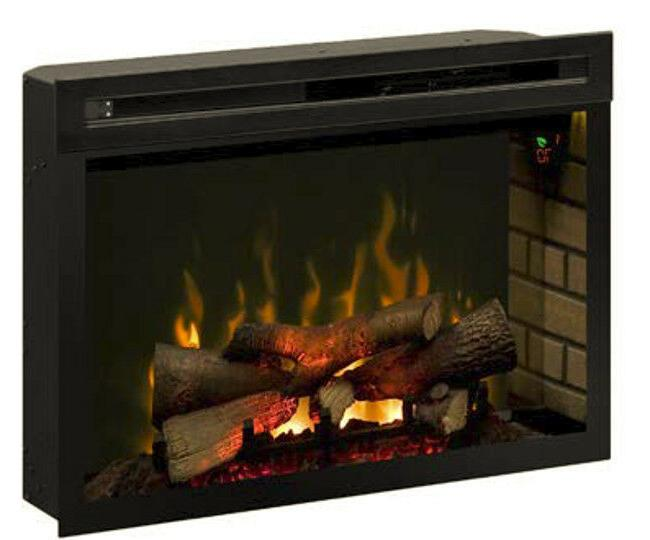 25 inch electric fireplace w logs insert