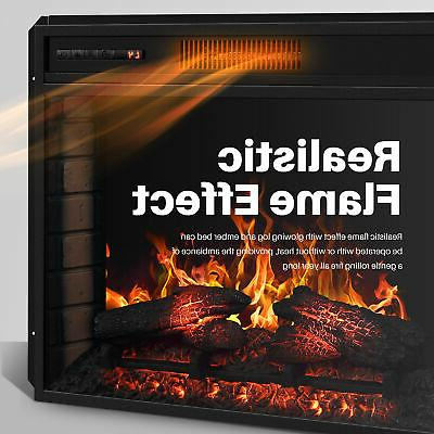 """28"""" Electric Fireplace Insert Stove Heater"""