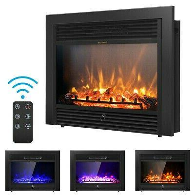 """28.5""""  Electric Embedded Insert Heater Fireplace Glass Flame"""