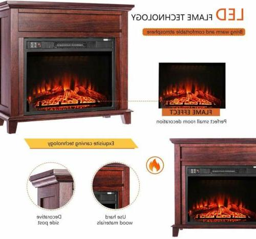 "VIVOHOME 32"" Electric Heater Stove Remote Freestanding Wood"
