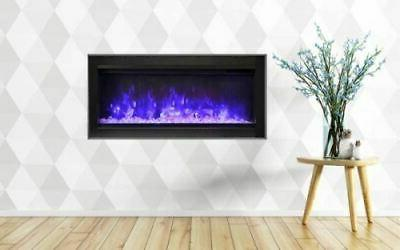 34 basic clean face symmetry electric fireplace