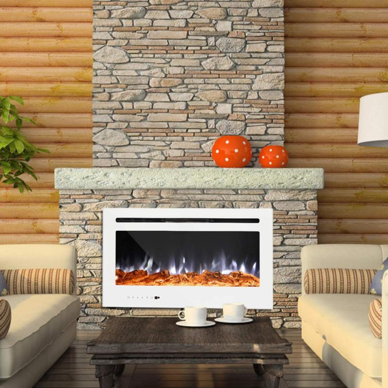 Maxhonor 36Inch Panel Recessed Electric Fireplace
