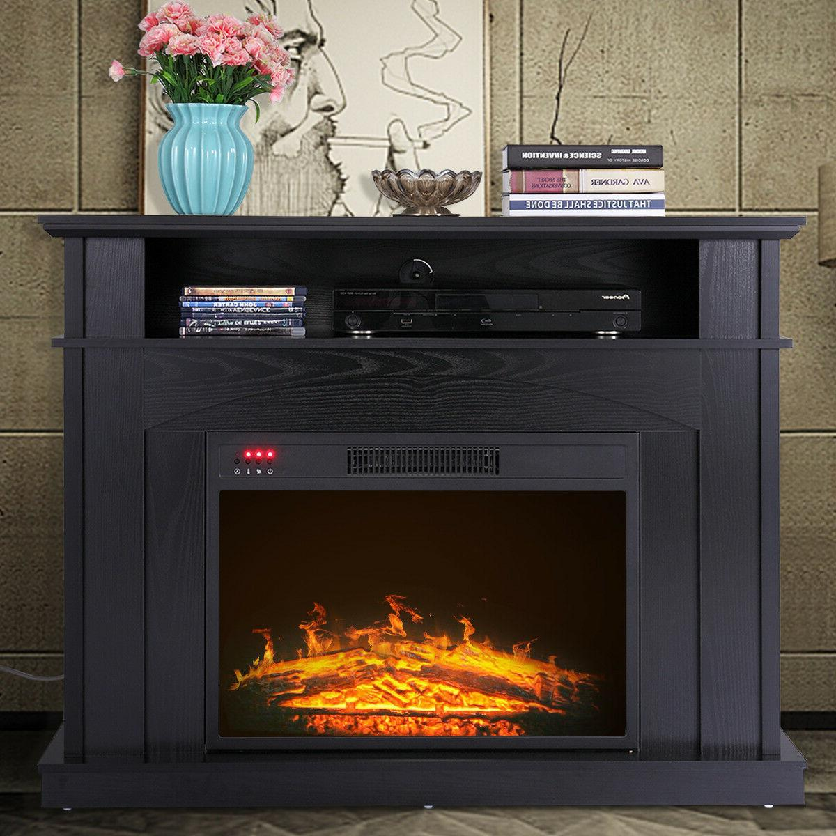 41 free standing 1500w electric fireplace tv