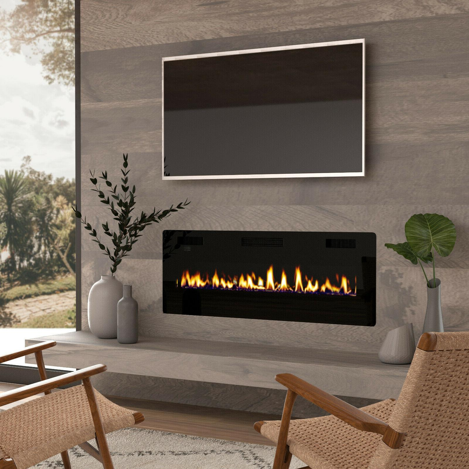 50 electric fireplace insert wall mounted in