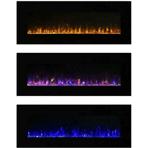 Northwest 54 Electric Wall Mounted Fireplace With Fire Ice