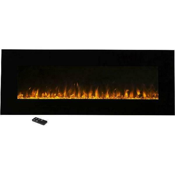 54 inch electric wall mounted fireplace