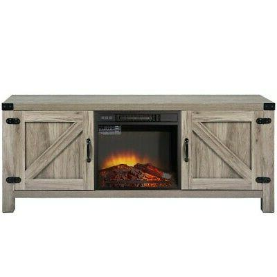 """58"""" Rustic Fireplace TV Stand Fireplace TV Stand"""