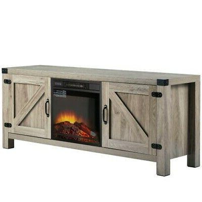 """58"""" Fireplace Stand Driftwood Electric Fireplace TV Wash"""