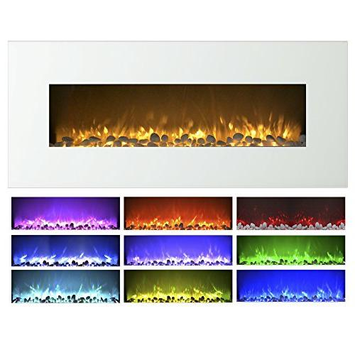 Electric Wall Mounted, Color Changing LED Flame and