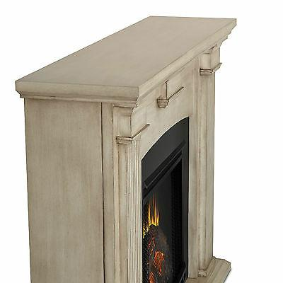 Real Electric Fireplace - Dry Brush White