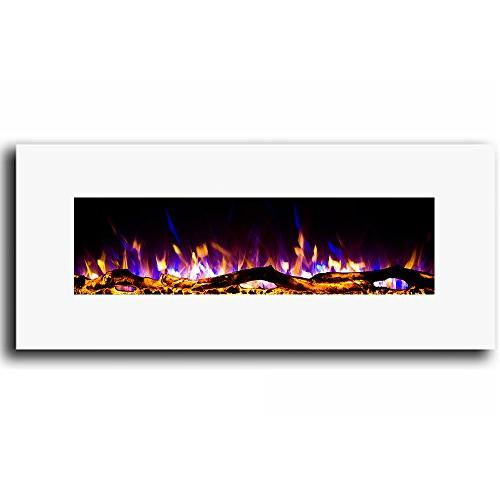 """Regal White 50"""" Electric Better Than Gas Logs, Fireplace Log Sets, Gas Space Heaters, Propane"""