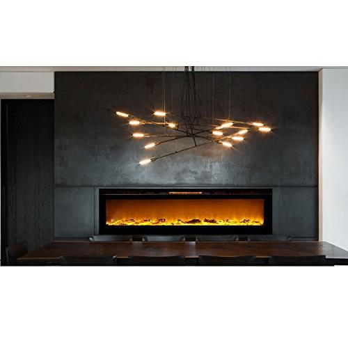 """Regal 60"""" Log Built-in Ventless Wall Mounted Fireplace Better Sets, Gas, Propane"""