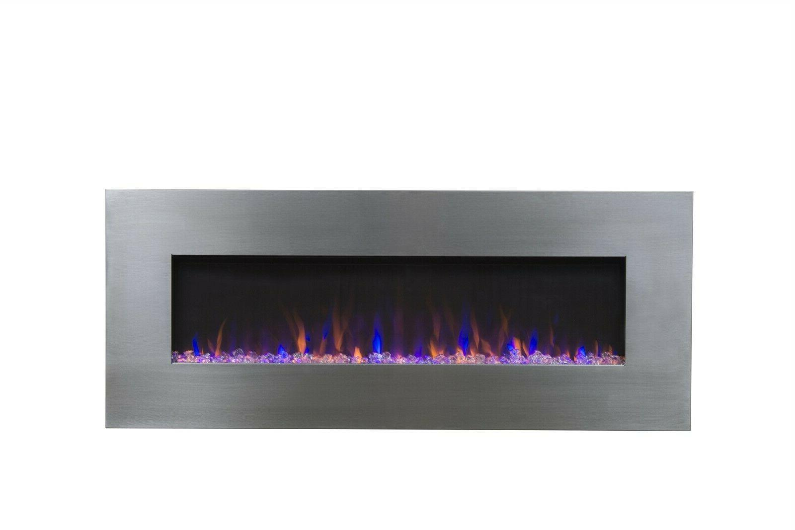 audioflare 80024 stainless 50 recessed electric fireplace