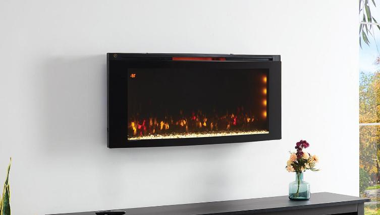 "CLASSIC MOUNTED INFRARED ELECTRIC FIREPLACE 42"" WITH DISPLAY STAND"