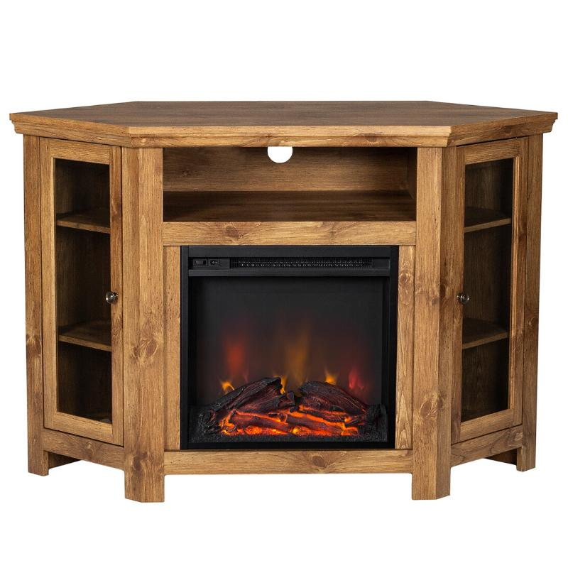 corner fireplace tv stand electric mantel living