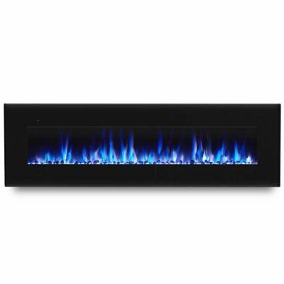 """Real Flame 72"""" Wall Mounted Electric Fireplace in"""