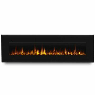 Real Flame Wall in Black