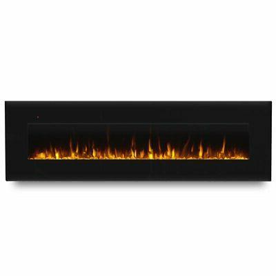 corretto 72 wall mounted electric fireplace in