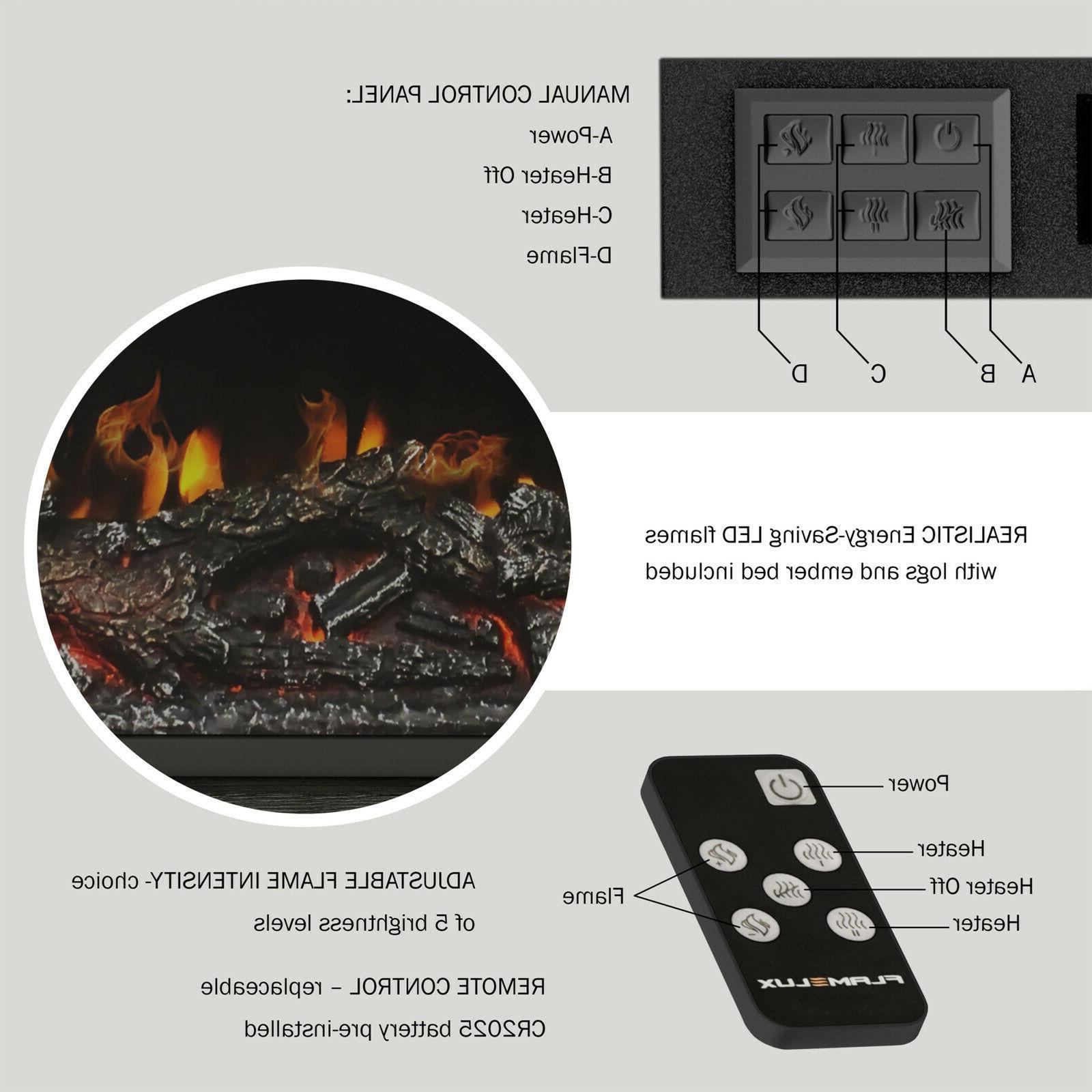 """Electric Fireplace TV For TVs up 48"""" Shelves,"""