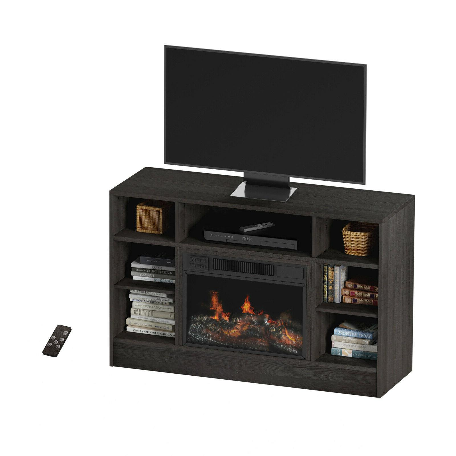 """Electric For 48"""" Console with Media Shelves,"""